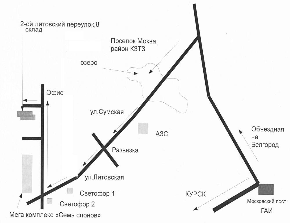 проезда Схема проезда